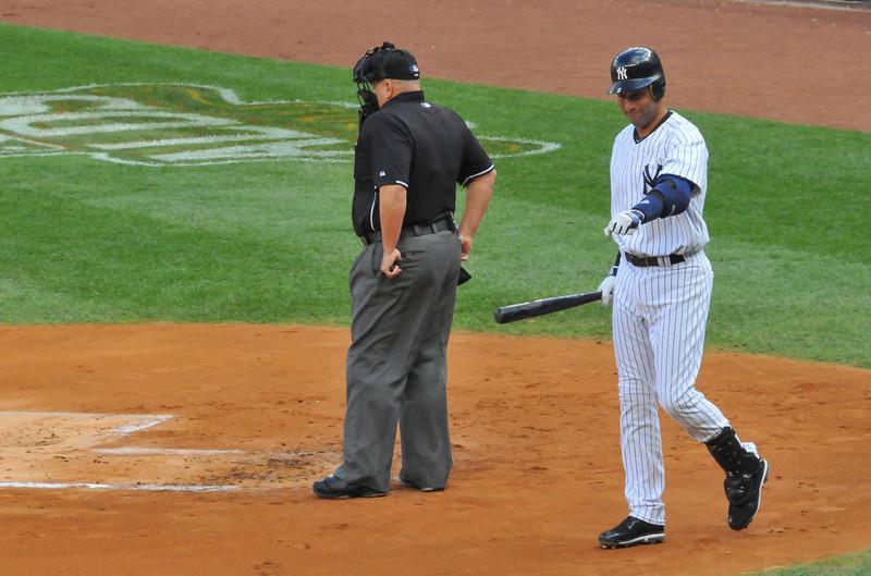 Derek Jeter, Tigers vs. Yankees, Game 2 of League Division Series, October 2011