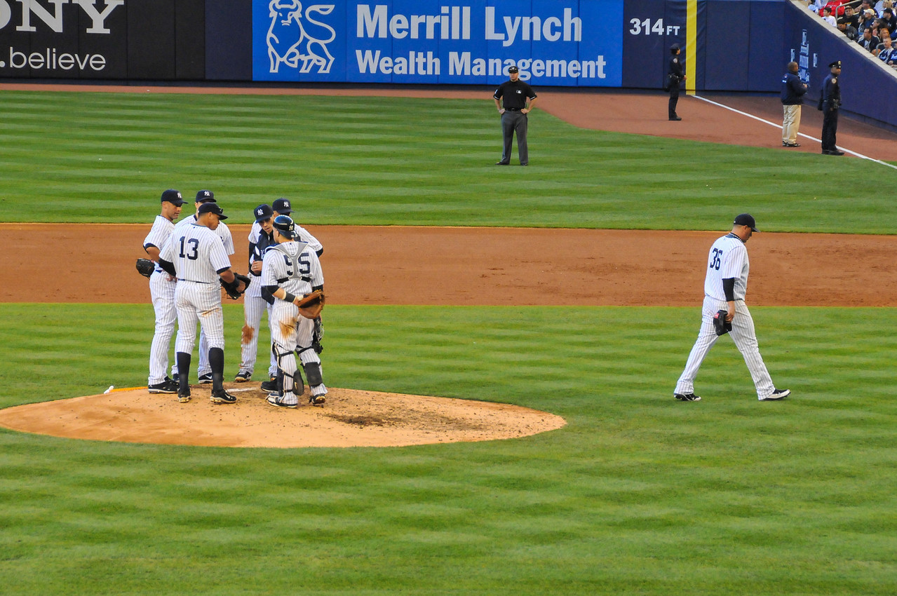 End of game for Freddy Garcia, Tigers vs. Yankees, Game 2 of League Division Series, October 2011