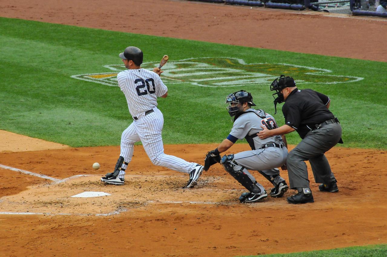 Jorge Posada, Tigers vs. Yankees, Game 2 of League Division Series, October 2011