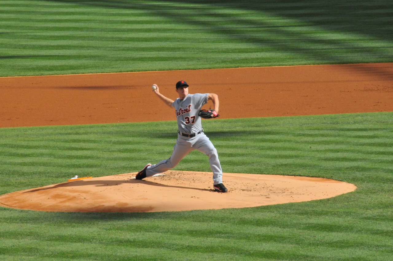 Max Scherzer facing Jeter, Tigers vs. Yankees, Game 2 of League Division Series, October 2011