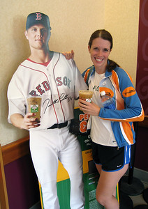 Amazing!  Kelly and Jon Pappelbon both drink Dunkin' Donuts iced coffee!