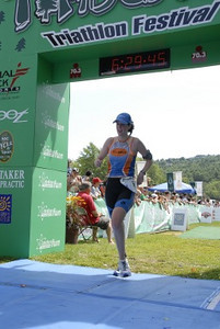 Kelly at finish - great work!