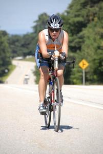 Aimee on bike