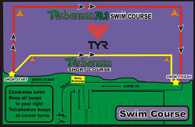 Swim course map