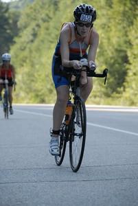 Kelly on the bike