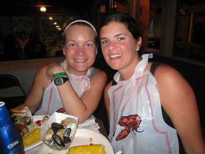 Best part is the little icon of the lobster on the bib - just in case it wasn't clear why Marion / Aimee were wearing them :-)