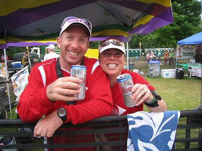 Jim and Nat enjoying T3 - aka the Beergarden :-)