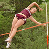 "THS's Brittany Linkous wins the girls pole vault at the Times News relays clearing 8'6"". Photo by ned Jilton II"