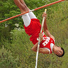 "Daniel Boone's Chris Winkle placed second in the pole vaulting event of the Times News Relays clearing 11'6"". The event continues Friday with the rest of the field events and the running events at Sullivan North High School in Kingsport. Photo by Ned Jilton II"