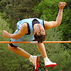 "Sullivan South's Andrew Pickwell winning the boys high jump, clearing 6'4"". Photo by Ned Jilton II"