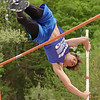"Unicoi County's Cameron Miller placed third in the pole vaulting event of the Times News Relays clearing 11'6"". The event continues Friday with the rest of the field events and the running events at Sullivan North High School in Kingsport. Photo by Ned Jilton II"