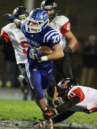 11-22-13<br /> Tipton Semistate<br /> Cory King tries to break out of Rensselaer defense.<br /> KT photo | Kelly Lafferty