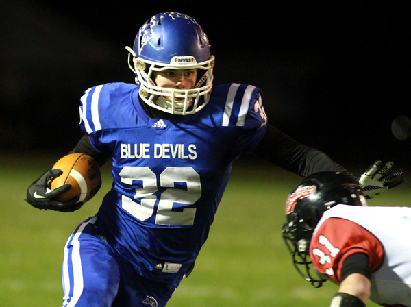11-22-13<br /> Tipton Semistate<br /> Tipton's Nathan Friend runs the ball.<br /> KT photo | Kelly Lafferty