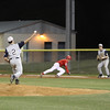 Tivy pitcher #2 Ty Desilets attempts a pickoff at first base.