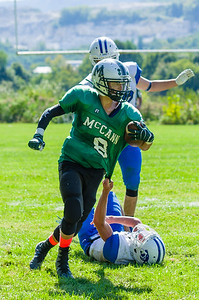 Zavier Martin-Lefesque intercepts a Jeff Pardo pass in the fourth quarter to help seal the game for the Hornets.
