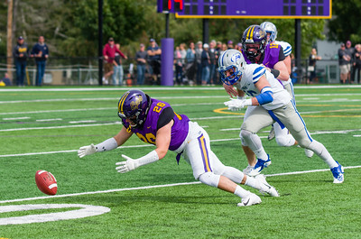 Christian Dumont pounces on a muffed punt return, a boost the Ephs would capitalize on shortly after.