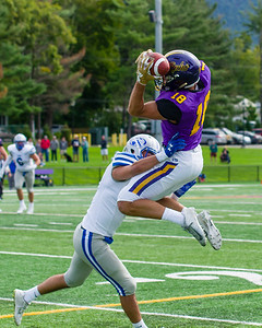 Joe Volpe (18) makes a leaping catch in the third quarter to set up an Ephs touchdown a few plays later.