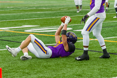 Jake Kastenhuber comes up with an interception early in the first quarter for the Ephs.