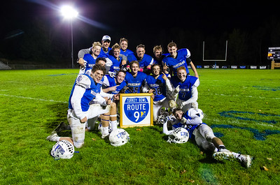 Wahconah seniors enjoy a moment with the battle of Route 9 game with Northampton.