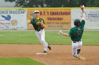 Anton Lazits turns a double play in the first inning to get Taconic out of a jamb.