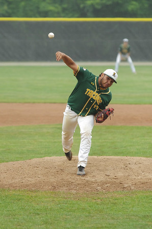 Taconic hurler Cedric Rose delivers the ball Saturday in the state championship game in Worcester.