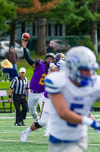 Williams QB Babby Maimaron throws a pass in the third quarter of Saturday's win over Colby.