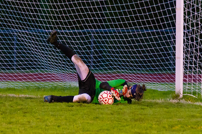 PHS goalkeeper Avi Snowise makes a save in the second half.
