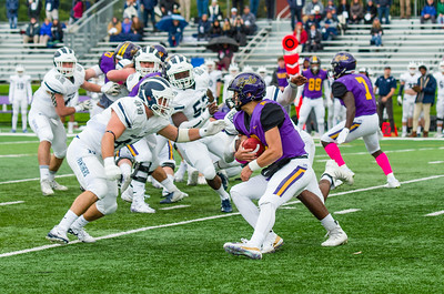 Williams quarterback Bobby Maimaron found little room to run against Middlebury's defense Saturday.