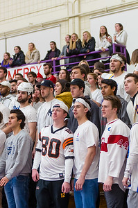 Williams fans cheer on their Ephs, who were playing the Husson Eagles in the first round of the NCAA Division III tournament Friday night.