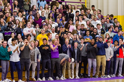 The William's student section cheers late in the second half as time was running out.