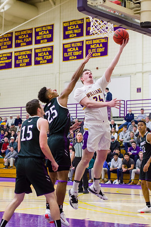 Matt Karpowicz makes a layup during the first half of the Ephs 62-60 win Wednesday night over rival Amherst.