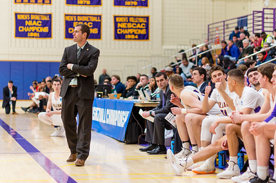 Head Coach Kevin App looks on as time runs down in the second half.