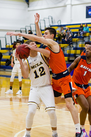 Mike DeMartinis (12) draws a foul late in the second half.