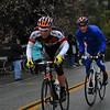 Bradley White ahead of Bauke Mollema on the Sierra climb