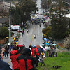 The pelaton approaching the Sierra climb