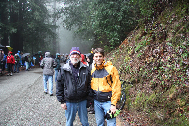 Tom and me on the top of Tunitas Creek climb