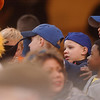 "Young fans rush up to see ""Muddy the Mudhen.""<br /> Photo Ben French"