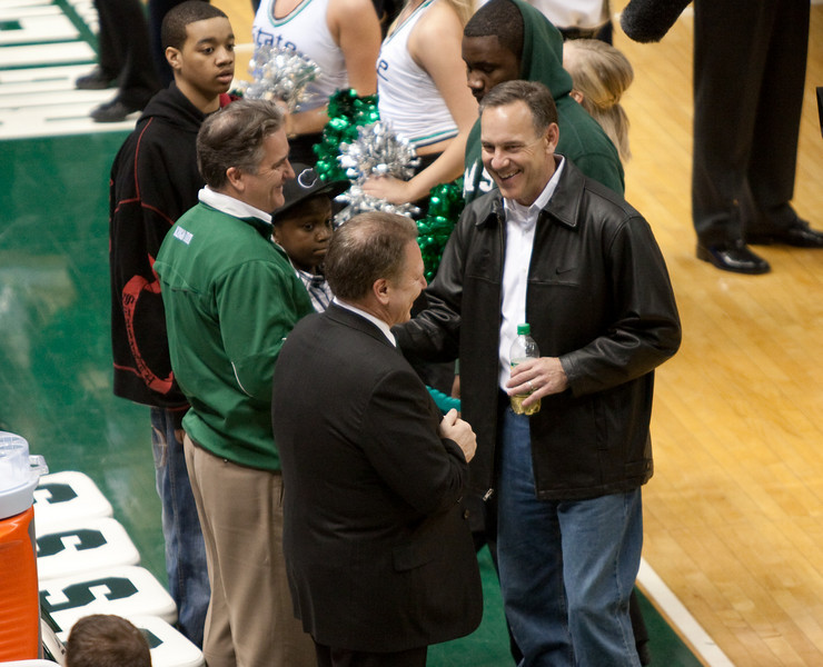 Steve Mariucci, Tom Izzo, and Mark Dantonio before the Michigan Michigan State game 2010.
