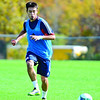 New England Revolution's Diego Fagundez, 18, of Leominster passes the ball during a drill during an October 2013 practice at Gillette Stadium in Foxboro. SENTINEL & ENTERPRISE / BRETT CRAWFORD
