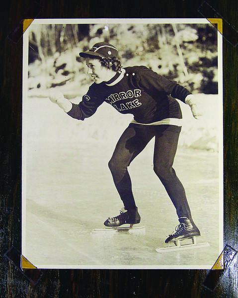 Fitchburg's Carmelita Landry won 23 speed skating championships, including the North American titles in 1941 and 1942. SENTINEL & ENTERPRISE / JOHN LOVE