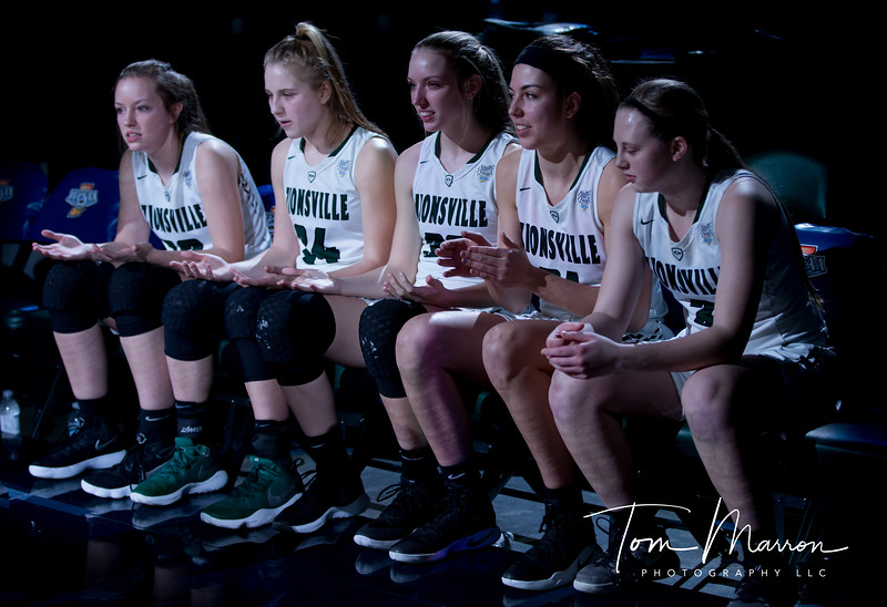 This team surprised a lot of people. This shot was just prior to introductions in the state championship game. Great ladies and a great team.