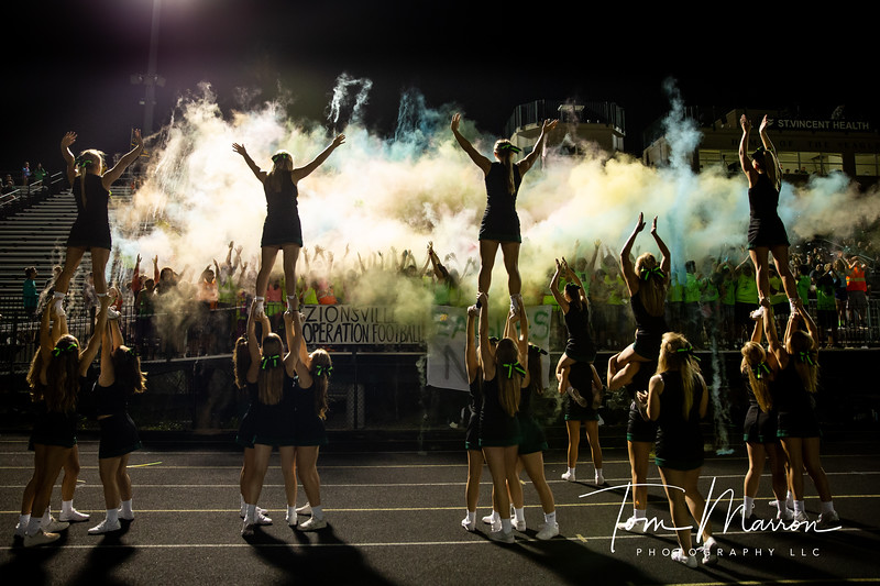 One of the many power shots I have taken over the years.  I tried something a little different this time by getting the cheerleaders in the frame.