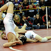 "Loveland High School's Jordan Henrickson goes for the pin on Grand Junction Central's Anthony Feller in the 145-pound class during the Top of the Rockies wrestling tournament on Saturday, Jan. 21, at Centaurus High School. Henrickson won the match to take 1st place. For more photos of the tournament go to  <a href=""http://www.dailycamera.com"">http://www.dailycamera.com</a><br /> Jeremy Papasso/ Camera"