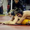 "Thompson Valley High School's Tanner Williams tries for some escape points while wrestling Palo Verde High School's Jordan Hart in the 120-pound class during the Top of the Rockies wrestling tournament on Saturday, Jan. 21, at Centaurus High School. Williams lost the match. For more photos of the tournament go to  <a href=""http://www.dailycamera.com"">http://www.dailycamera.com</a><br /> Jeremy Papasso/ Camera"