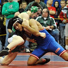 Anthony Delgado, right, of Centaurus, beats Brady Turnbull of Green River, Wyoming, for third place at 140 pounds.<br /> Cliff Grassmick / January 23, 2010