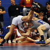 Connor King, right, of Broomfield was beaten by Robert Pickrell of Northridge at 160 pounds in the finals.<br /> Cliff Grassmick / January 23, 2010