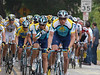 No one is riding 35 mph up this hill. Here's another image of the Astana Team. E-3 & 50-200 mm f/2.8 - 3.5 lens at 200 mm, ISO 400, f/5, 1/400 sec.