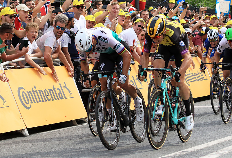 Winner 1st stage Mike Teunissen, 2er Peter Sagan BORA-hansgrohe