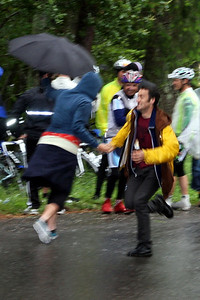 Celebrating the rain on Stage 2, Trinity Grade