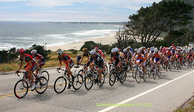 Armstrong leads the peloton, Waddell Creek